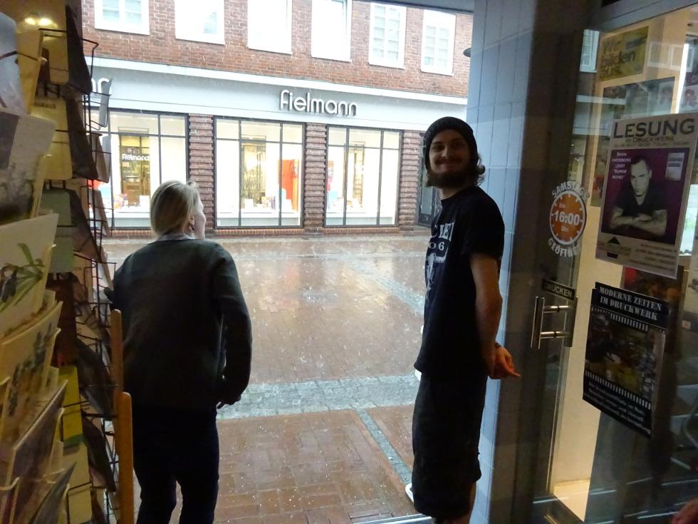Die Druckwerker im Regen!