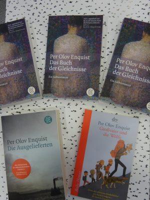 Bild von Enquists Büchern