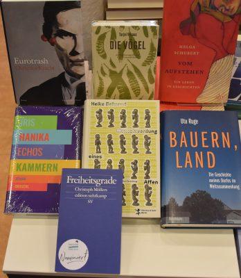 Bild von den nominierten Büchern